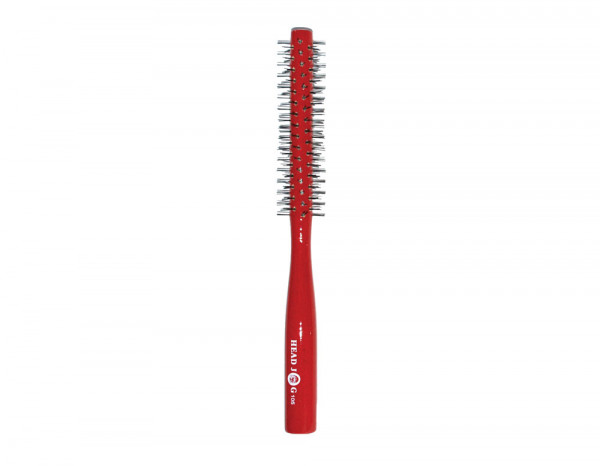 Head Jog 105 radial brush small red lacquer wood