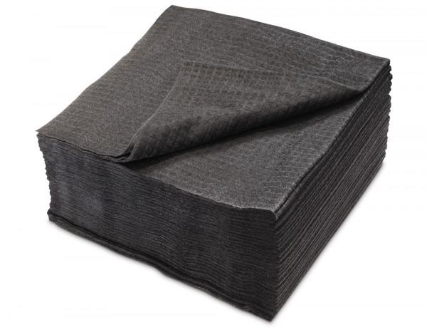 Scrummi waffle towel medium, black (50)