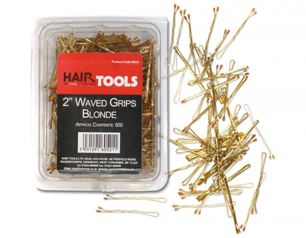 "Hair Tools hair grips waved, blonde 2"" (500)"