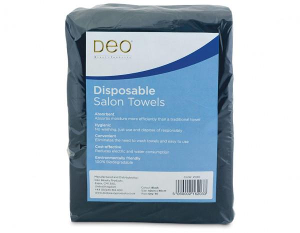 Deo disposable towels, black (50)