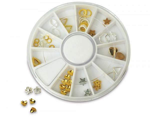 Star Nails nail art 2D gem charm wheel