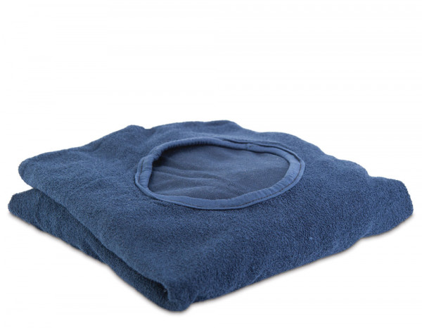 Aztex couch cover with facehole, navy