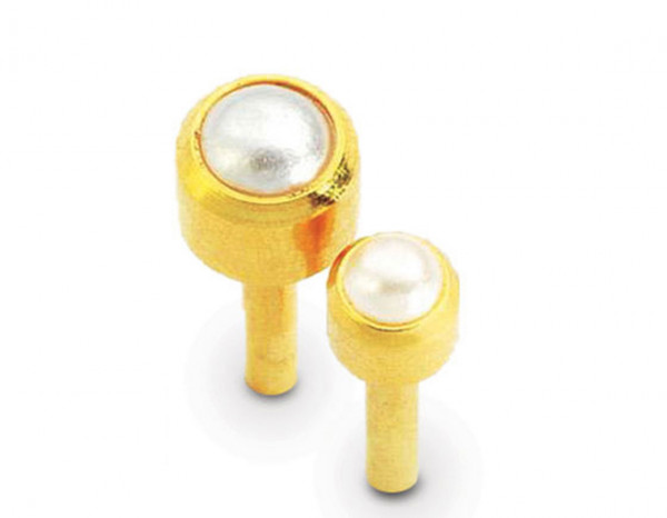 Caflon studs gold plated pearl (12)