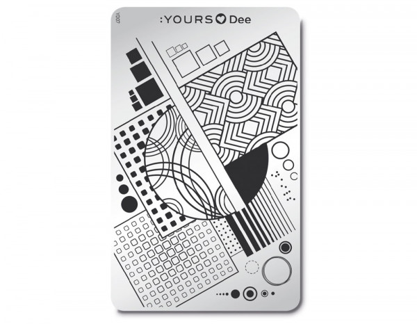 Yours stamping plate, Square