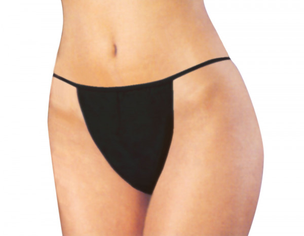 Beauty Essentials disposable g-strings, black (100)