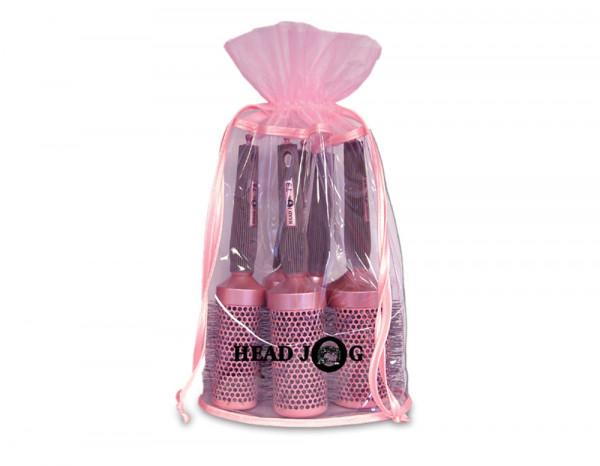 Head Jog brush bag gift set pink