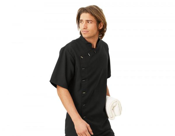 Mens asymmetrical tunic, black size 42