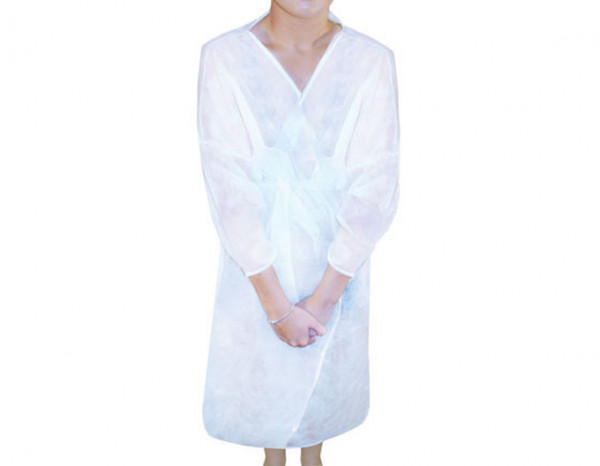 Beauty Essentials disposable robe, white