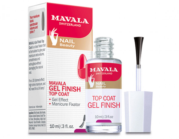 Mavala retail 10ml, gel finish top coat