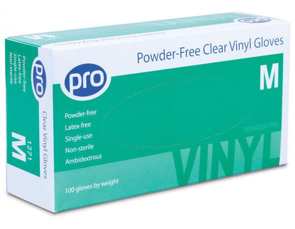 Agenda vinyl gloves powder free small (100)