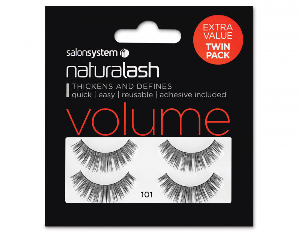 Salon System Naturalash 101 black twin pack offer