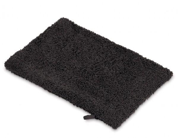 Facial towelling wash mitt, black