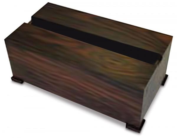 Wooden slatted tissue box