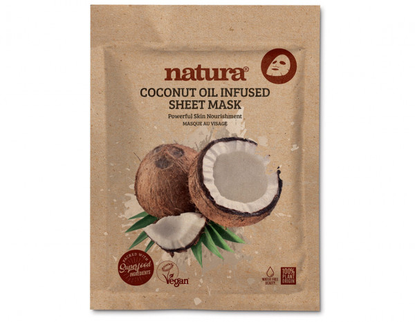 natura coconut oil infused mask