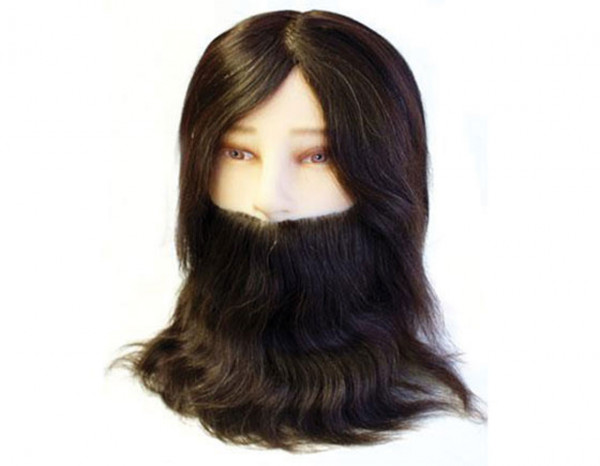 Hair Tools training head man with beard 8""