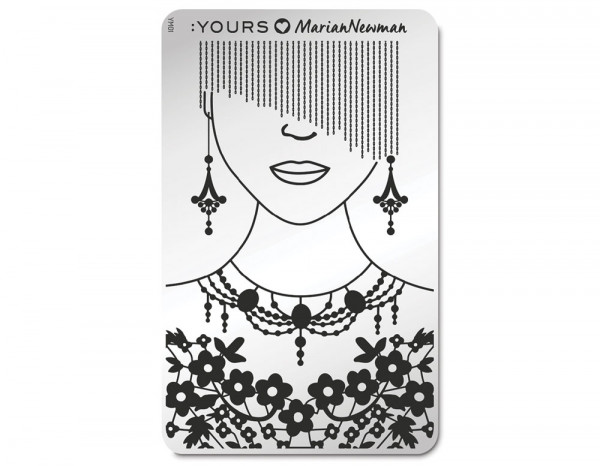 Yours stamping plate, Mannequin