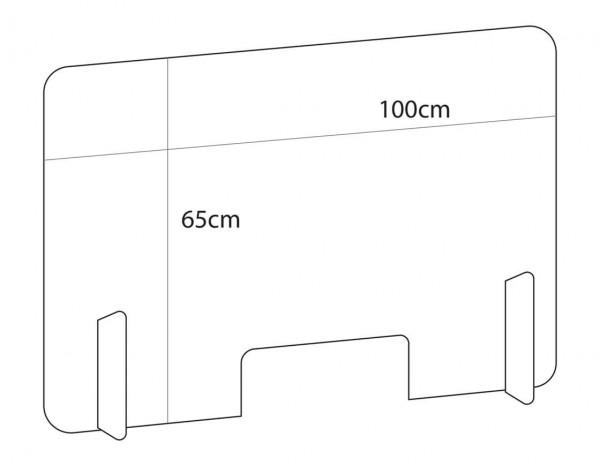 Gharieni protective screen 100x65cm