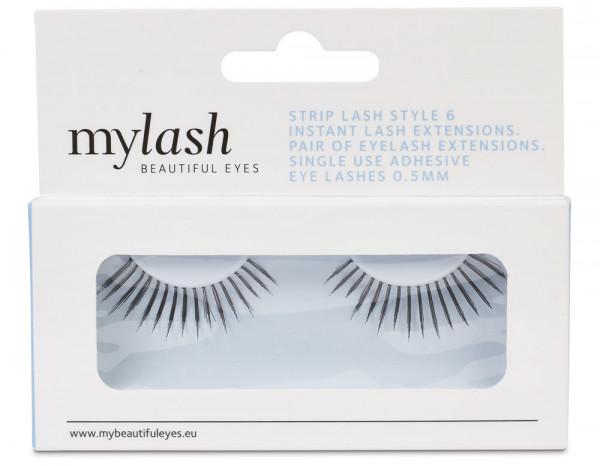 Mylash strip lashes style 6, black