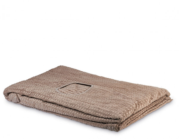 Serenity couch cover with face hole, pebble