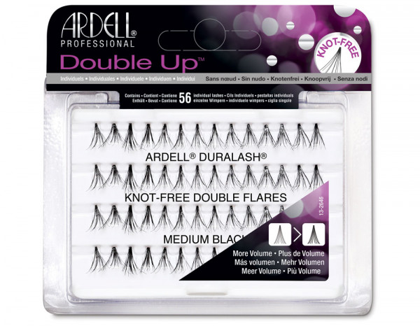 Ardell double individuals knot-free black, medium