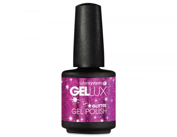 Gellux 15ml, magenta sparkles