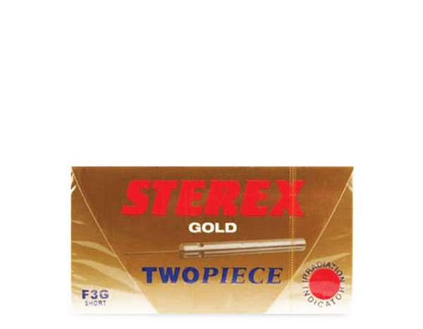 Sterex needles gold two piece F3G short (50)
