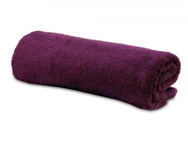 Luxury face towel, festive plum