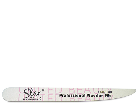 Star Nails tapered wooden file, 180/180 grit(12)