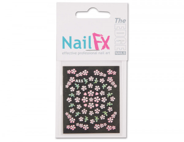 The Edge 3D nail art stickers, red flowers