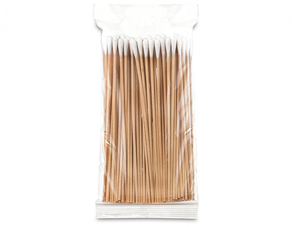 Salon System cotton buds wooden handle (100)