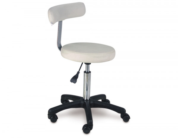 Styling stool white
