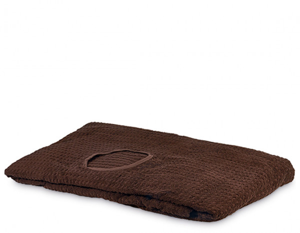 Serenity couch cover with face hole, brown