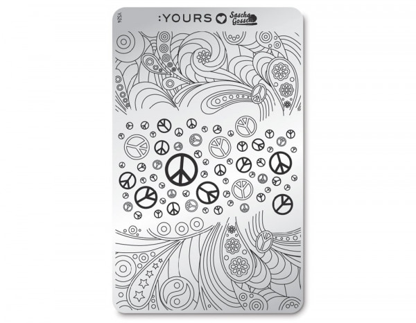 Yours stamping plate, Peaceful Pleasure