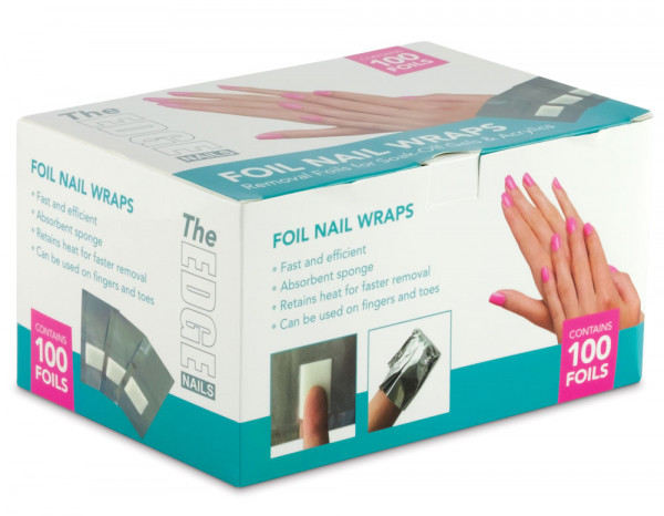 The Edge foil nail wraps and pads (100)