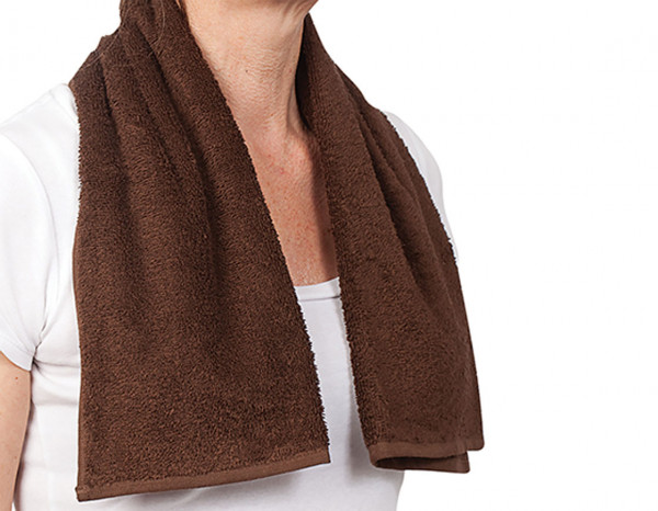 Comfy hot towel/gym towel, brown