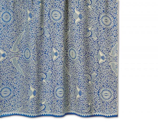 Batik sarong, deep sea blue