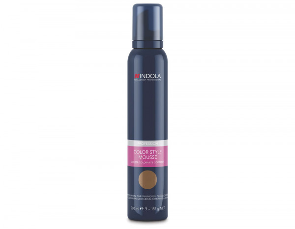 Indola Color Style mousse, medium brown 200ml