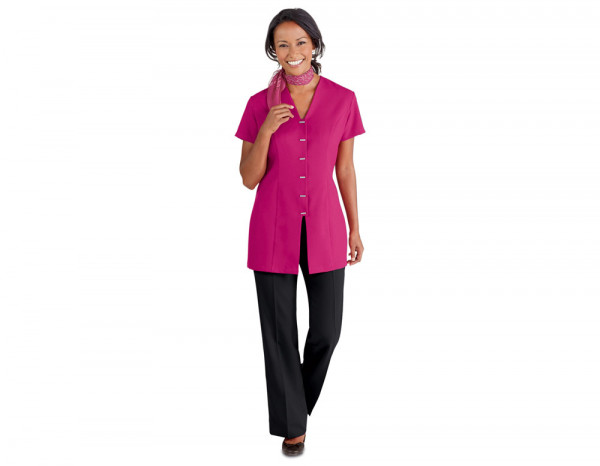 Front fastening tunic, hot pink size 8