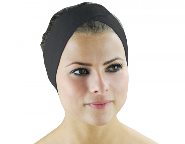 Towelling headband, black