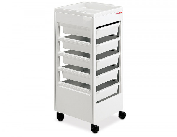 REM Studio trolley with flat top tray