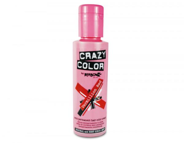 Crazy Color 100ml, 40 vermillion red