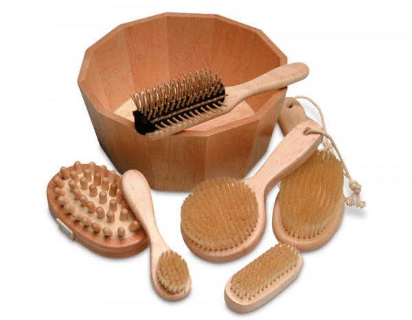 Massage brush complete kit