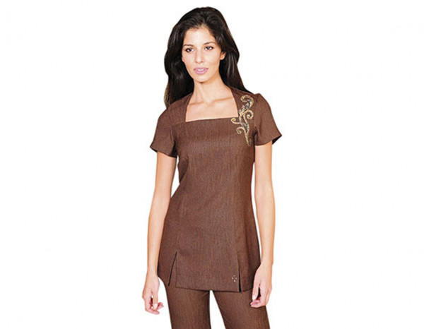 Ava tunic linen look size 12, brown