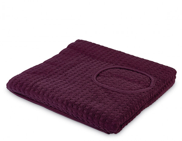 Serenity jumbo sheet with face hole, aubergine