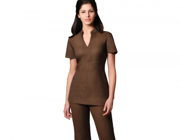 Cara tunic linen look, brown size 24