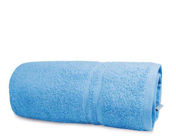 Luxury bath towel, light blue