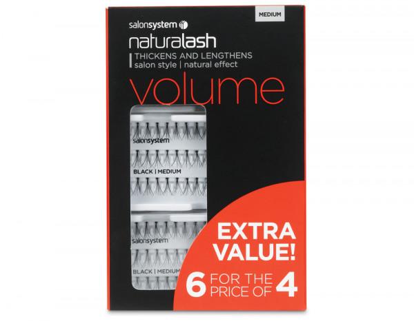 Salon System Naturalash Volume medium 6 for 4