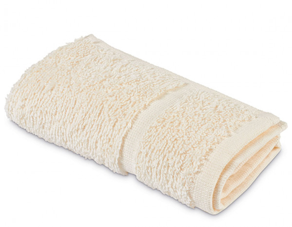 Comfy towelling face cloth, ivory