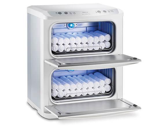 Hot towel cabinet, white 2 door
