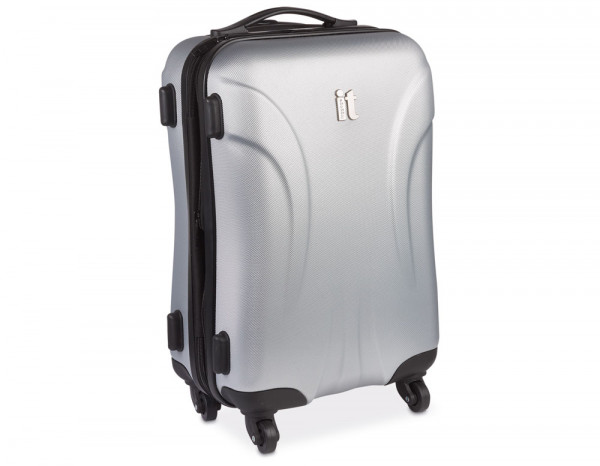 """Trolley case with 4 wheels, silver 19"""""""